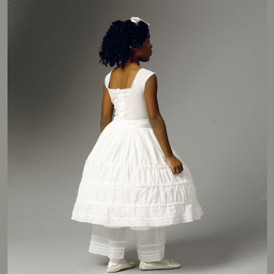 Childrens/Girls Drawers, Underskirt and Hoop Skirt