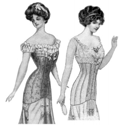 1913 late edwardian corset  truly victorian  corset