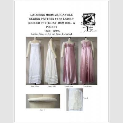 Ladies' Bodiced Petticoat, Bum Roll & Pocket