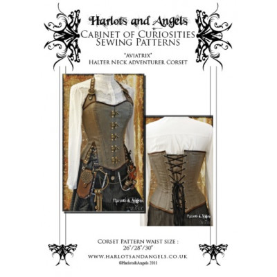 Aviatrix Halter neck tight lacing corset pattern