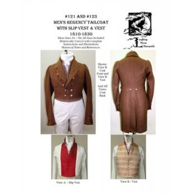 Mens Regency Tailcoat with Slip Vest & Vest  -Value Combo pattern!