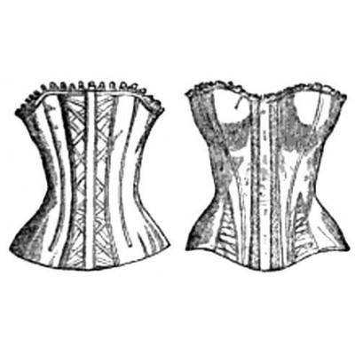 9e9b956c865 1840-1860 EARLY VICTORIAN CORSET PATTERN   Mantua Maker   Corset ...
