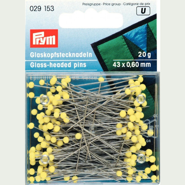 Prym: Extra Long Glass Headed Pins