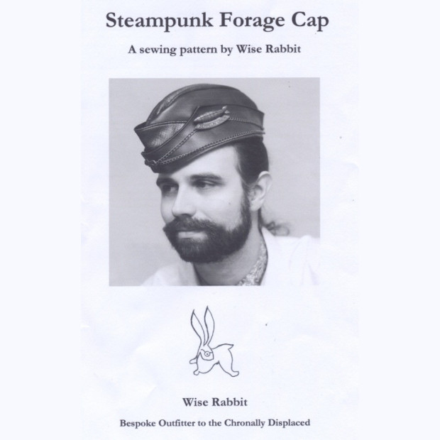 Steampunk sewing pattern. Forage Cap for men and women