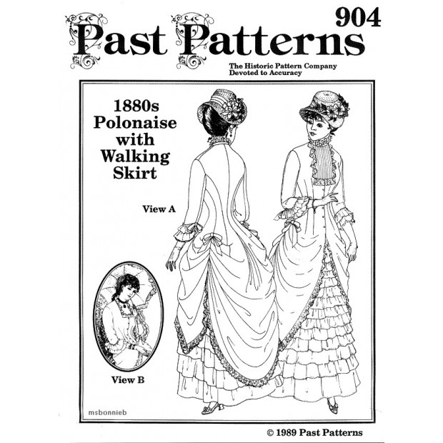 1880s Polonaise and Walking Skirt