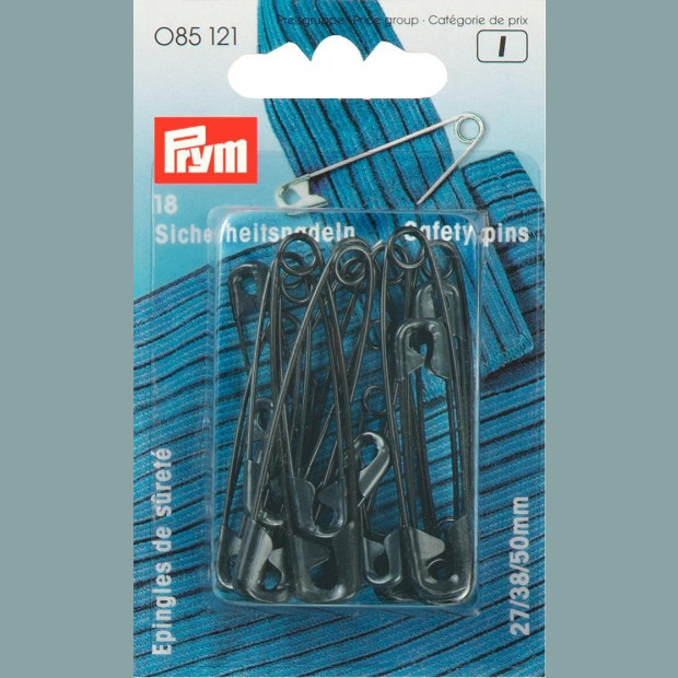 Black Safety Pins