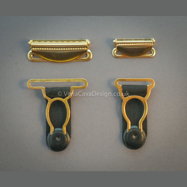 Gold Plated Suspender Fittings (End Grips and Regulators)