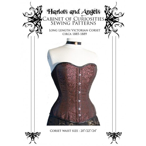 Long Line Victorian Corset Paper Sewing Pattern