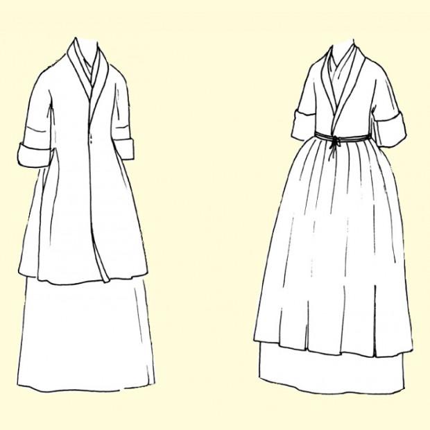 Manteau-de-Lit or 18th Bedgown