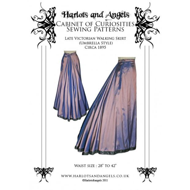 Late Victorian Walking Skirt (Umbrella Style) Circa 1895