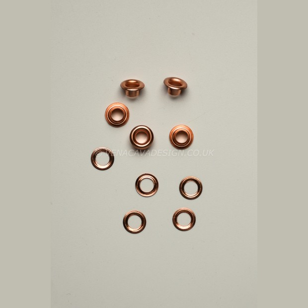 8mm Eyelets and Washers 100 Rose Gold