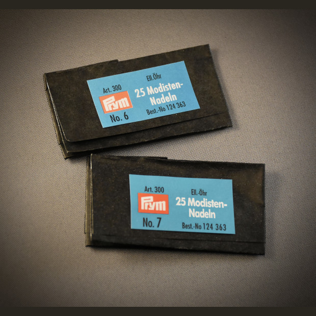 Millinery Needles 2 sizes - Prym brand