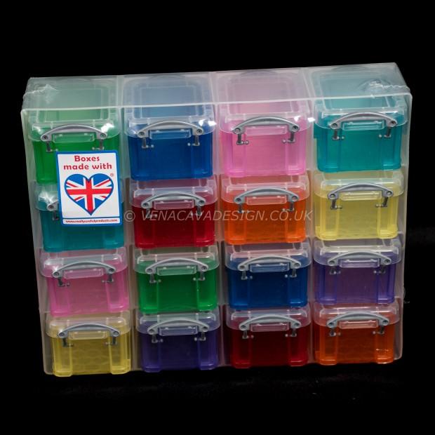 0.14 litre  Rainbow Really Useful Organiser Pack