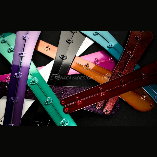 Multi-Coloured Steel Spoon Busks for Corsetry. European made.