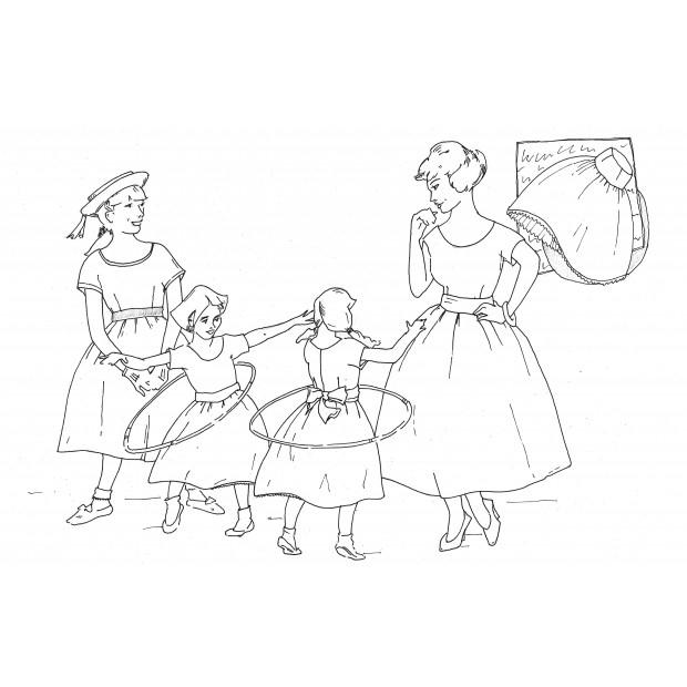 Ladies 1958 Party Dress Pattern