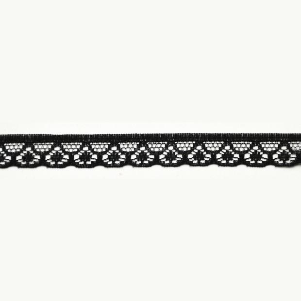 Black Narrow Lace Trim -1cm deep, TO CLEAR