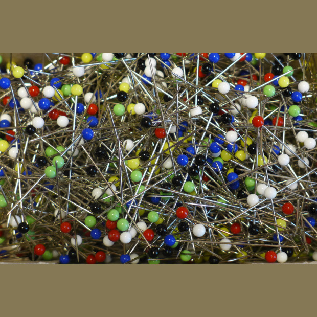 Glass Headed Pins -Bulk Pack