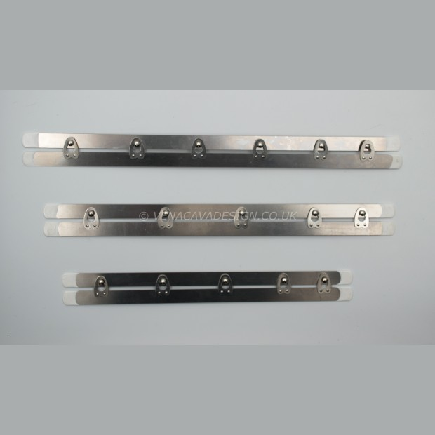 Narrow Stainless Steel Busks with Dipped Ends