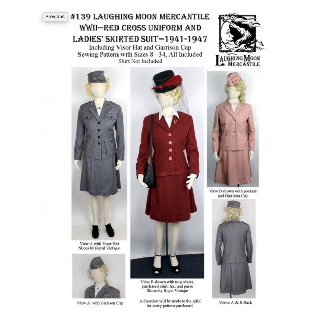 WWII Red Cross Uniform and Ladies Skirted Suit 1941-1946