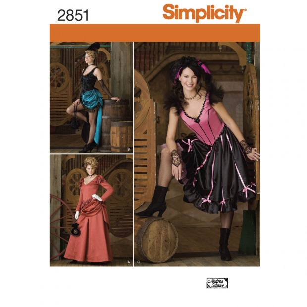Simplicity Pattern 2851 Misses' Costumes