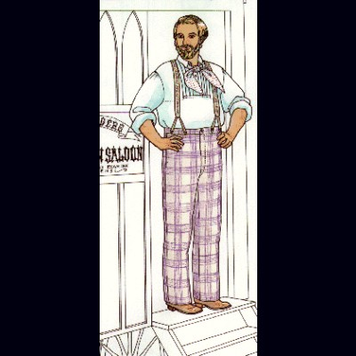 Classic Plain-Cut Summer Trousers of the Mid-19th Century in Regular waist sizes 28-42