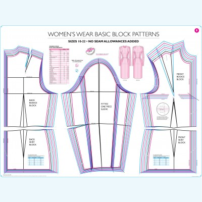 Womens Dress Block Pattern -SHOBEN