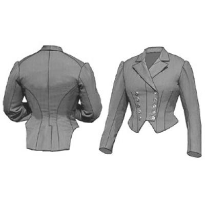 1883 Riding Habit Bodice