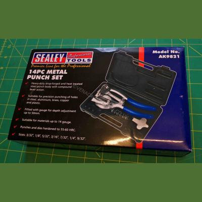 SEALEY Metal Hole Punch Set (14 piece)