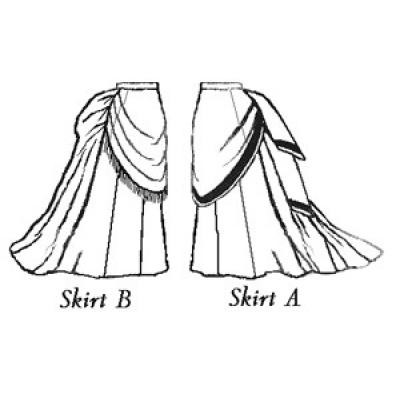 1870 Trained Skirt Ensemble