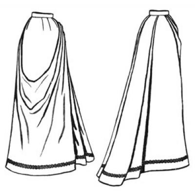 1891 French Fan Skirt