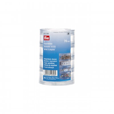 Stackable Clear Storage Boxes  (70mm)-Prym