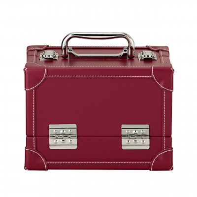 Red Leather Look Portable Sewing Case -Prym
