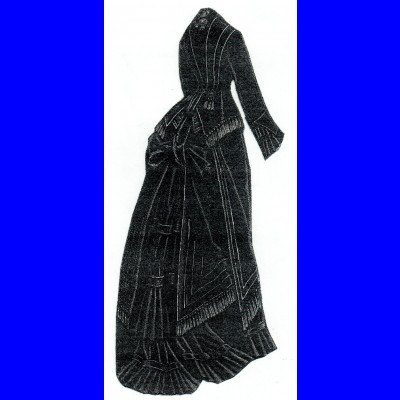 1876 Black Grosgrain and Cashmere Suit Pattern
