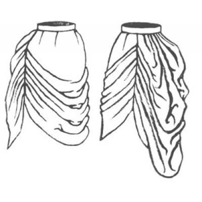 1878 Long Draped Overskirt