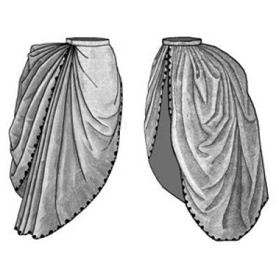 1886 Bordered Asymetrical Overskirt