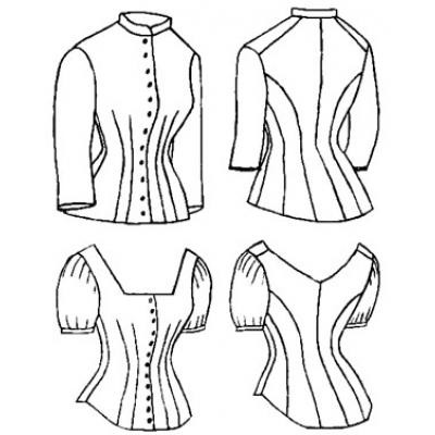 1879 Cuirass Bodice with Evening Options