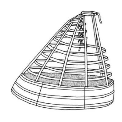 1865 Elliptical Cage Crinoline