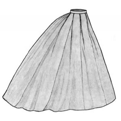 1865 Elliptical Skirt