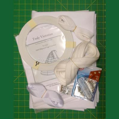 1865 Elliptical Cage Crinoline - Kit