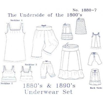 1880'S - 1890'S UNDERWEAR PATTERN SET