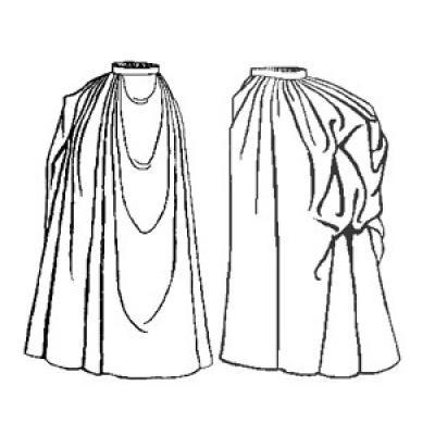1889 Draped Skirt