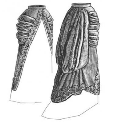 1880 Split Pannier Overskirt
