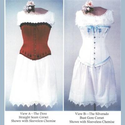 Victorian Corset Sewing Pattern by Laughing Moon.  LM100
