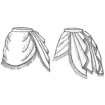 1872 Side Drape Overskirt