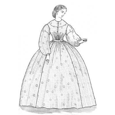 1863 Sheer Dress