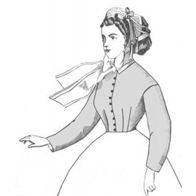 1860s Darted Bodice