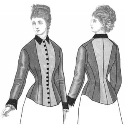 1877 Two-Tone Bodice