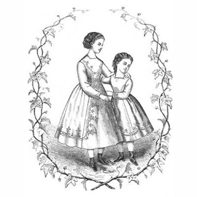 1869 Princess Dress for Young Girls