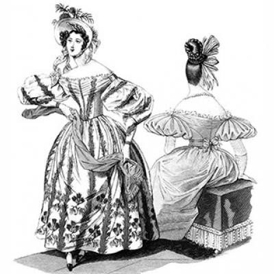 1830s Romantic Era Dress