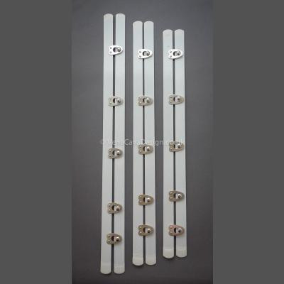 Premium Quality White Busks with silver Clasps.
